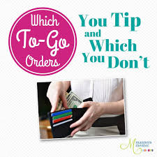Restaurant Tipping Guide Chart Which To Go Orders To Tip And Which You Dont