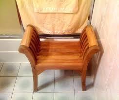 small teak shower stool corner bench oasis fully assembled coastal vogue compact with shelf in off white sma teak corner shower bench mini
