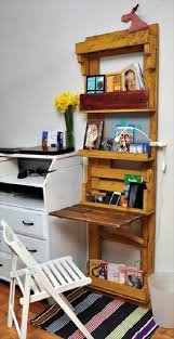 Wall Shelves With Desk Diy Pallet Computer Desk With Wall Shelf