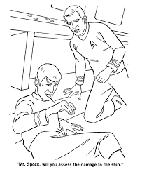 Small Picture Star Trek Coloring Pages Captain Kirk Asks Mr Spock For Damage