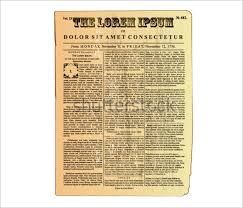 Old Time Newspaper Template Word Old Newspaper Template Publisher Magdalene Project Org