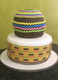 Sepedi Plus Kente Traditional Wedding Cake Clipkulture Clipkulture