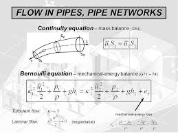 flow in pipes pipe networks