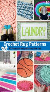 Free Crochet Rug Patterns Inspiration Crochet Rug Patterns 48 Free Patterns Link List On Crochet For You