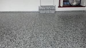 epoxy flooring garage. Epoxy Garage Floor With Large And Small Flake Shed Flooring