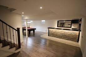 basements by design. Basement Renovation With Cool Bar Ideas Basements By Design Flooring For Unfinished
