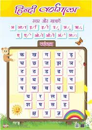 Front Back Educational Charts Hindi Varnamala Matras