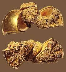 royal earrings of the satavahana dynasty andhra pradesh india 1st century bce