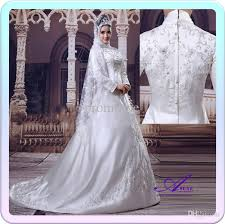 discount hot sale islamic wedding dress high quality embroidery