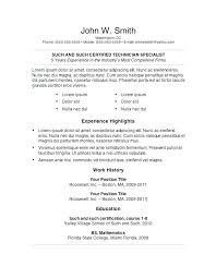 Resume Template For Word Unique It Resume Template Word Deixardefumar