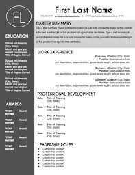 Stand Out Resume Templates Word