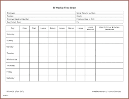 Semi Monthly Time Card Template
