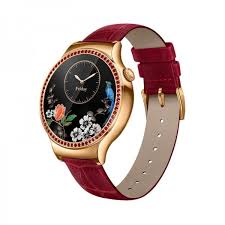 huawei watch jewel elegant with beautiful face red leather band for woman