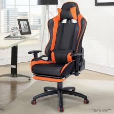 leather reclining gaming chair orange in australia for reclining gaming chair reclining gaming chair
