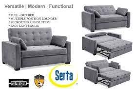augustine grey sofa sleeper