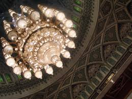 the chandelier from a far