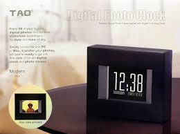 amazoncom  tao  modern digital photo clock (black