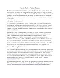Best Solutions of Resume Summary Samples For Freshers About Resume Sample