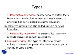 informative interview media studies lecture slides this is only a preview
