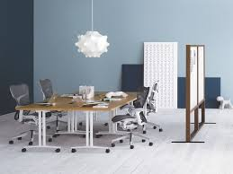 herman miller everywhere table. A Collaboration Space Featuring Gray Mirra 2 Office Chairs And Four Square Everywhere Tables, Ganged Herman Miller Table E