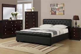 Queen Black Faux Leather Bed Frame
