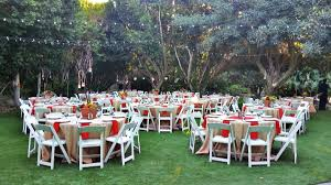 Simple Wedding Set Up in the Backyard Garden