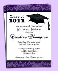 Commencement Invitation Template
