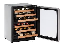 Cabinet With Wine Cooler Uline 24 Dual Zone Under Counter Wine Cabinet Appliance Gallery