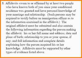 i 751 sample affidavit of friends letter i 751swornaffidavits