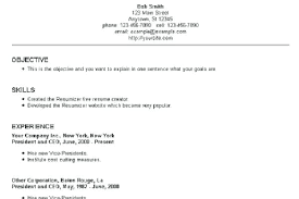 Simple Easy Resume Simple Resume Examples Resumes Templates Free Helenamontana Info