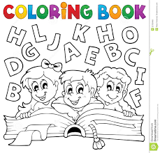 coloring book kids theme 5 stock vector ilration of clipart 32783465