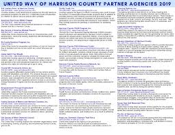 Campaign Brochure 2019 Campaign Brochure United Way Of Harrison County Inc