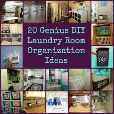 laundry room organizer collage