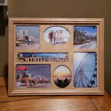 11 14 myrtle beach vacation laser engraved picture frame with 6 photo holes collage