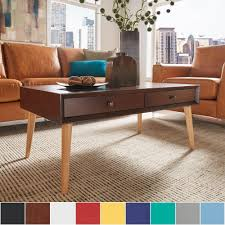 Marin Danish Modern 2-drawer Accent Coffee Table iNSPIRE Q Modern by  iNSPIRE Q