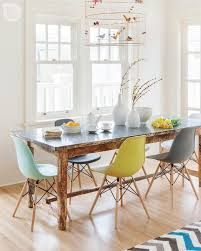 scandinavian furniture vancouver. Beautiful And Simple Painted White Dining Area Featuring Unique Room Chairs In Different Colors Combined With Distressed Wood Table Bird Cage Scandinavian Furniture Vancouver U