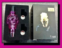 glass wax pink can temp sold out skull dry wax glass globe vape tank pink gold glass wax