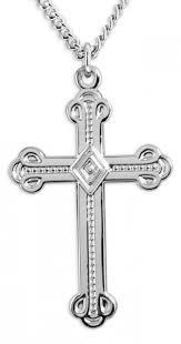 men s crusaders cross necklace