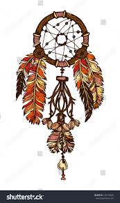 Aboriginal Dream Catchers Handdrawn Ink Dreamcatcher Feathers Ethnic Illustration Stock 60