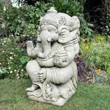 ganesh stone buddha ornament large garden statue