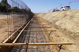 reinforcing steel for retaining wall footing photo courtesy of caltrans