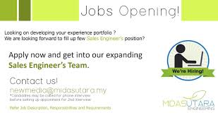 Vacancy | Midas Utara Engineering Sdn Bhd | Environmental ...