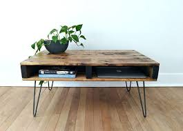 pallet coffee table finished in walnut