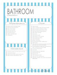 Bathroom Cleaning Schedule Awesome Decoration