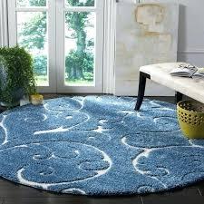 safavieh florida elegance light blue cream area rug 4 x 4 round on safavieh florida