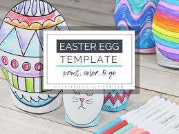 Easter Template Easter Egg Template Stand Up Easter Egg Printables The