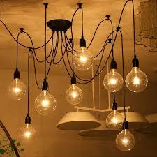 iegeek fuloon 10 lights creative fairy vintage edison lamp shade multiple adjule diy ceiling spider