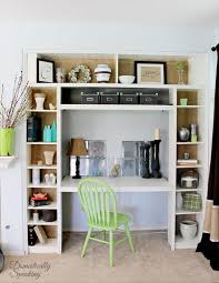 4 built in desk nook from ikea bookshelf by domestically speaking featured on remodelaholic
