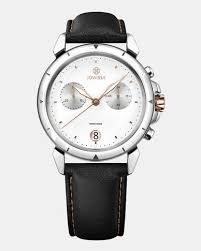 Jowissa Lewy 6 Swiss Chronograph Mens Watch Black And White