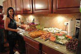 House Warming Party Decorations | Extended kitchen counters made for a  perfect buffet for all the